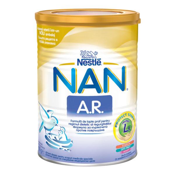 Nestle NAN Адаптирано бебешко мляко  A.R. /антирефлукс/ 400гр.